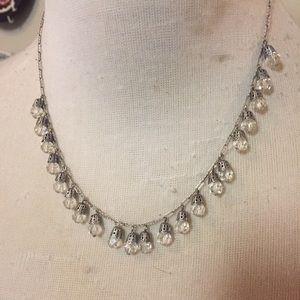 Liz palacios necklace crystal drops 16 Inches